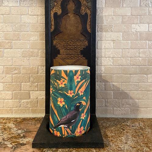 Tropical Myna,  Flameless Candle, 4x6, Keleka Designs