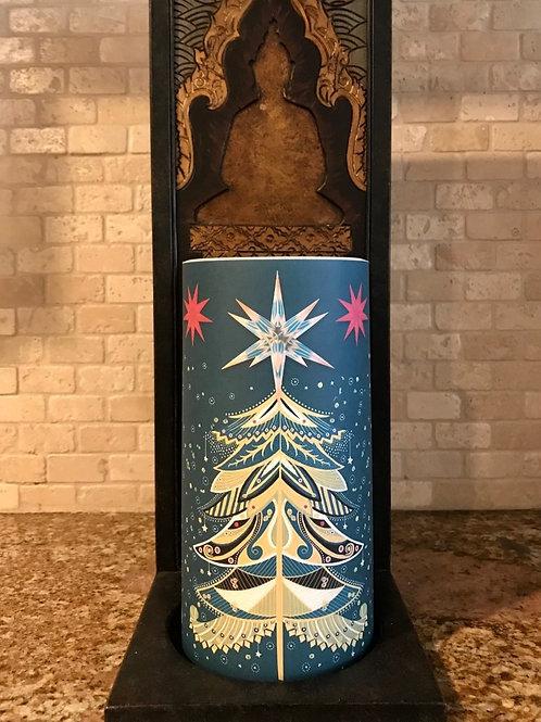 Oh Christmas Tree, Tall,  Flameless Candle, 4x8, Keleka Designs