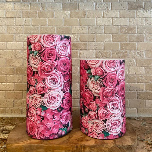 Forever Roses, Set, Flameless Candle, 4x6, 4x8, Keleka Designs
