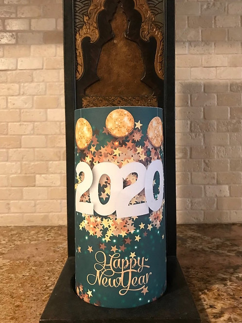 2020, Tall,  Flameless Candle, 4x8, Keleka Designs