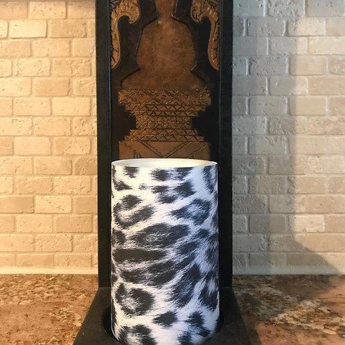 Leopard of Luxury, Flameless Candle, 4x6, Keleka Designs