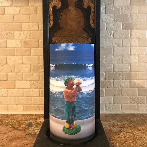 Dashboard Hula Guy, Tall, Flameless Candle, 4x8, Keleka Designs