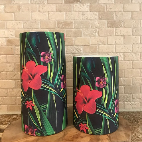 Tropical Elegance Set, Flameless Candle, 4x6, 4x8, Keleka Designs