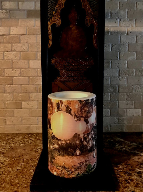 Charming Fall,  Flameless Candle, 4x6, Keleka Designs