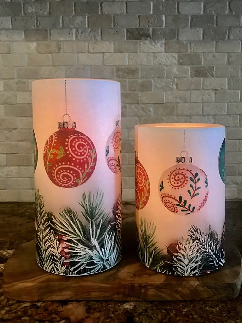 Holiday Delight Set, Flameless Candle, 4x6, 4x8, Keleka Designs