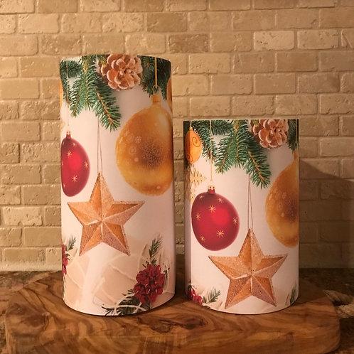 Holiday Charm Set, Flameless Candle, 4x6, 4x8, Keleka Designs