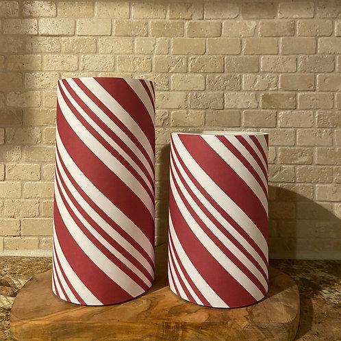 Candy Cane,  Set, Flameless Candle, 4x6, 4x8, Keleka Designs