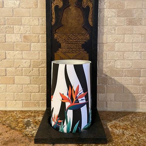 Wild Bird of Paradise,  Flameless Candle, 4x6, Keleka Designs