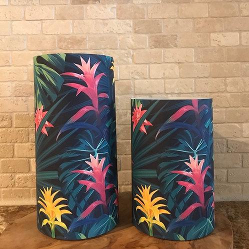 Exotic Blooms, Set, Flameless Candle, 4x6,4x8, Keleka Designs