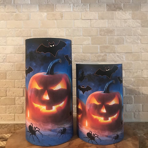 Midnight Spooks, Set, Flameless Candle, 4x6, 4x8, Keleka Designs