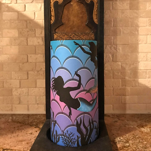 Mermaids of the Sea, Tall, Flameless Candle, 4x8, Keleka Designs