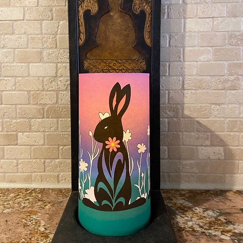 Color Changing Candle, Easter Bunny, Tall, Flameless Candle, 4x8, Keleka Designs