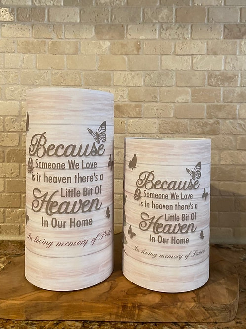 Heaven in our Home, Set, Flameless Candle, 4x6, 4x8, Keleka Designs
