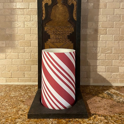 Candy Cane, Flameless Candle, 4x6, Keleka Designs