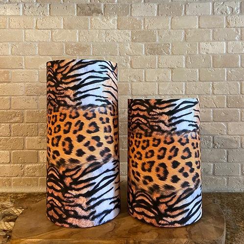 Wild Safari, Set, Flameless Candle, 4x6,4x8, Keleka Designs