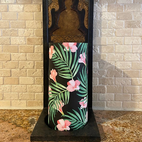 Blooming Palms, Tall, Flameless Candle,  4x8, Keleka Designs