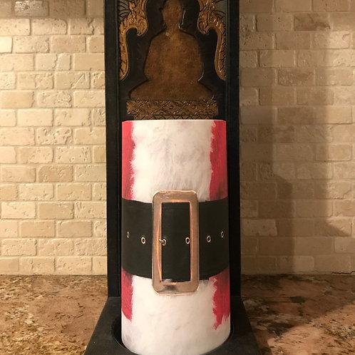Santa Baby, Tall,  Flameless Candle, 4x8, Keleka Designs