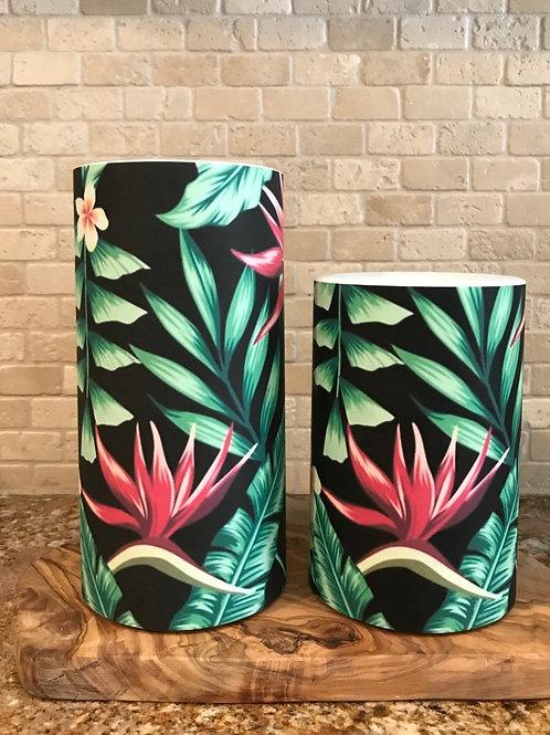 Blooming Tropics, Set, Flameless Candle, 4x6, 4x8, Keleka Designs