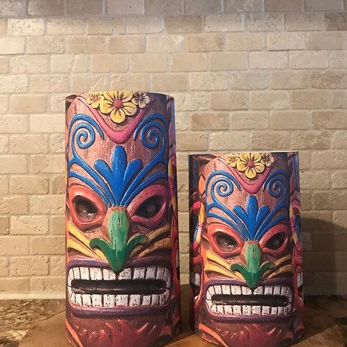 Tiki Time, Set, Flameless Candle, 4x6,4x8, Keleka Designs