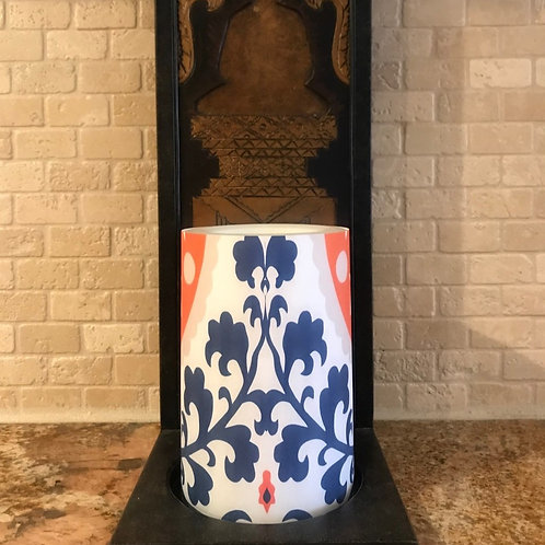 Blue Sunrise , Flameless Candle, 4x6, Keleka Designs