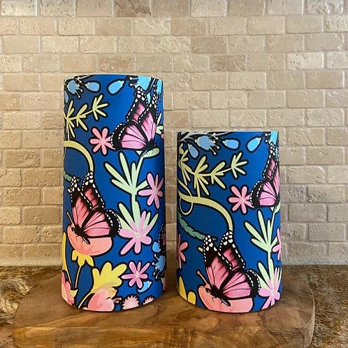 Spring Butterflies, Set, Flameless Candle, 4x6, 4x8, Keleka Designss