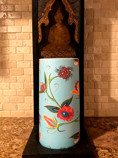 Boho Spring, Tall,  Flameless Candle, 4x8, Keleka Designs