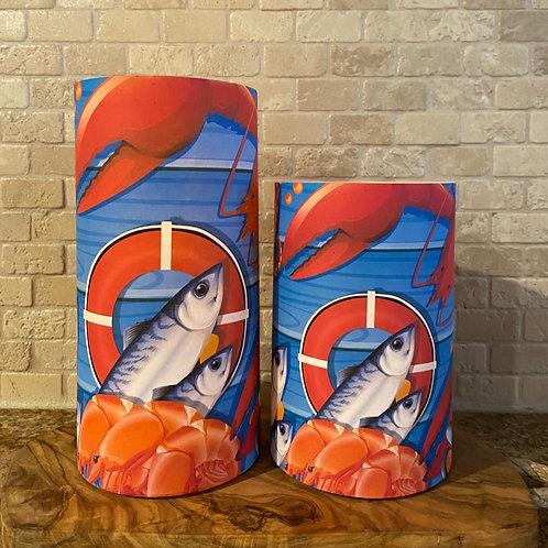 Lobster Shack, Set, Flameless Candle, 4x6,4x8, Keleka Designs