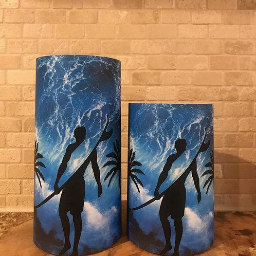 Surf's Up, Set, Flameless Candle, 4x6, 4x8, Keleka Designs