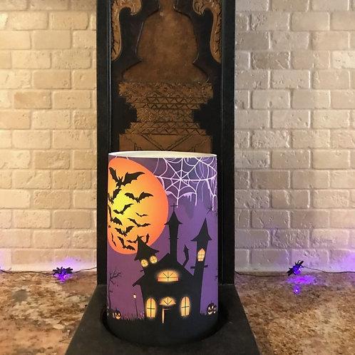 Halloween Nights, Flameless Candle, 4x6, Keleka Designs