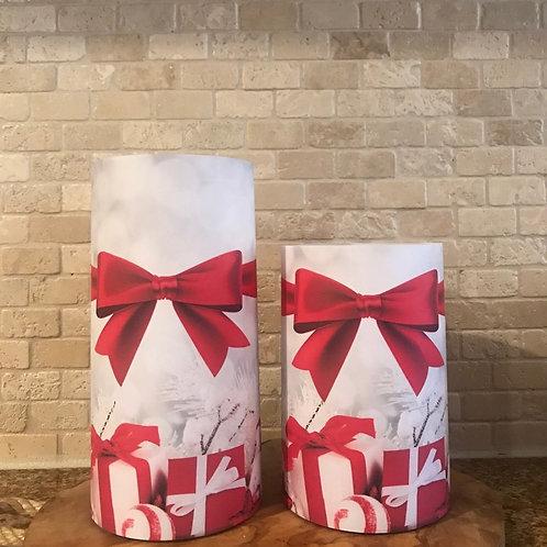 Winter Wrapped, Set, Flameless Candle, 4x6, 4x8, Keleka Designs