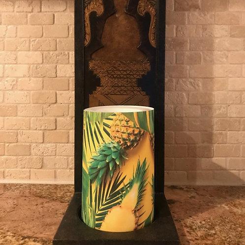 Pineapple Sunshine, Flameless Candle, 4x6, Keleka Designs