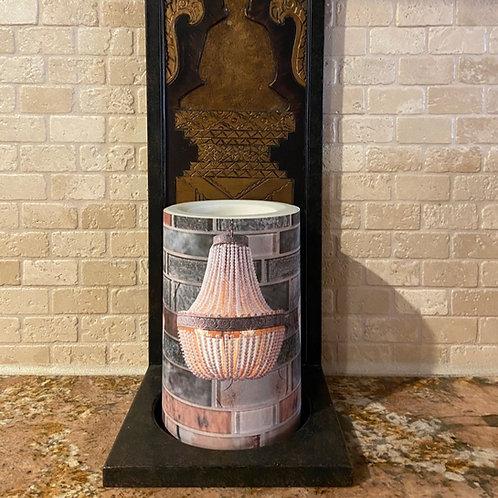 Backsplash Chandelier, Flameless Candle, 4x6, Keleka Designs