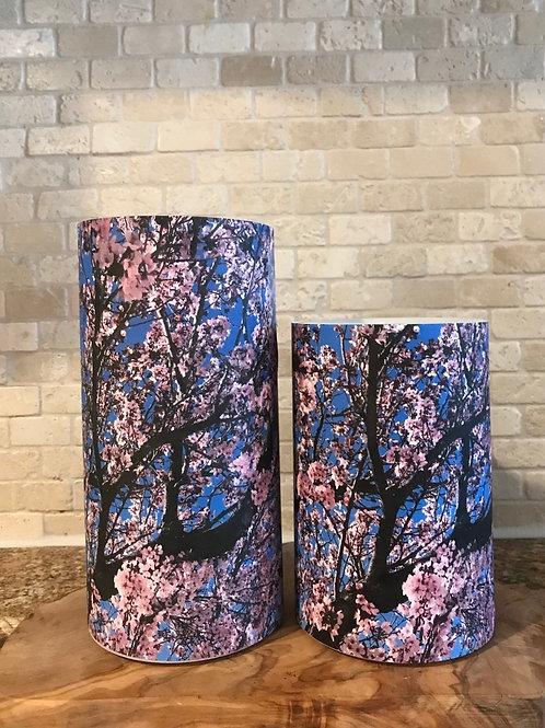 Cherry Blossoms, Set, Flameless Candle, 4x6, 4x8, Keleka Designs