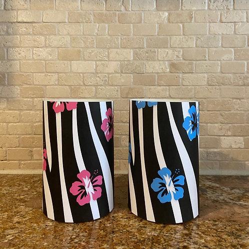 Tropical Zebra, Flameless Candle, 4x6, Keleka Designs