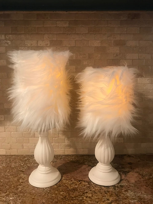 Elegant Fur, Set, Flameless Candle, 4x6,4x8, Keleka Designs