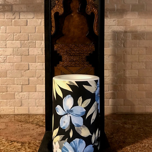 Blue Hawaii,  Flameless Candle, 4x6, Keleka Designs