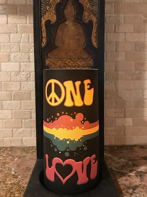 One Love, Tall,  Flameless Candle, 4x8, Keleka Designs