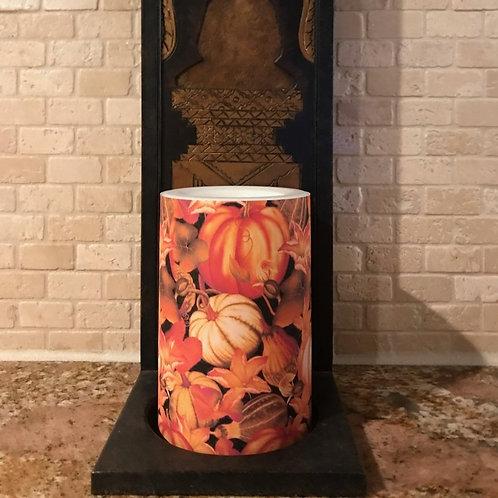 Pumpkin Spice,  Flameless Candle , 4x6, Keleka Designs