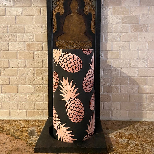 Pineapples of Gold, Tall, Flameless Candle,  4x8, Keleka Designs