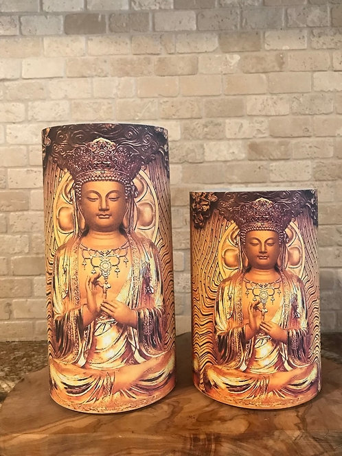 Buddha Love, Set, Flameless Candle, 4x6, 4x8, Keleka Designs