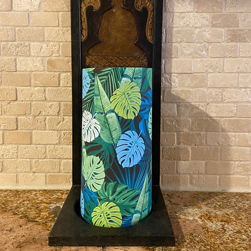 Earth Palms, Tall, Flameless Candle,  4x8, Keleka Designs