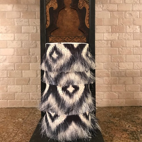 Furry Luxury, Tall,  Flameless Candle, 4x8, Keleka Designs