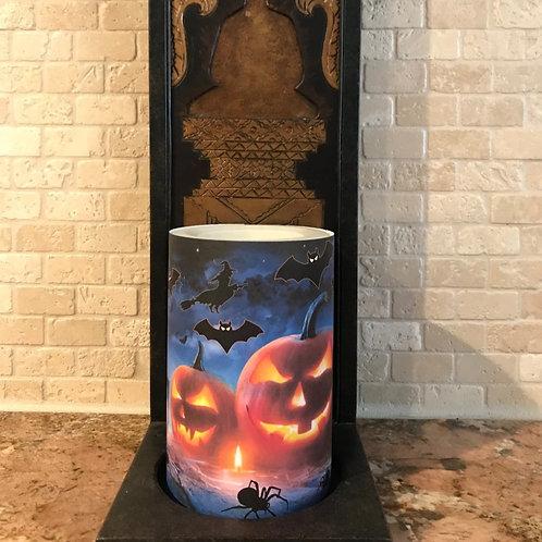 Midnight Spooks,  Flameless Candle, 4x6, Keleka Designs
