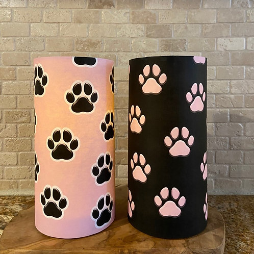 Dog Paws, Tall, Flameless Candle,  ONE 4x8, Keleka Designs