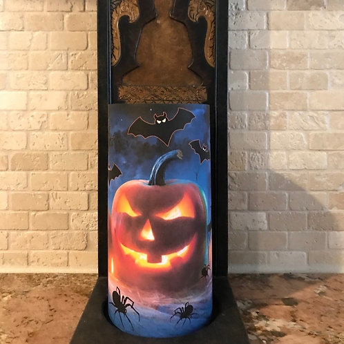 Midnight Spooks, Tall,  Flameless Candle, 4x8, Keleka Designs