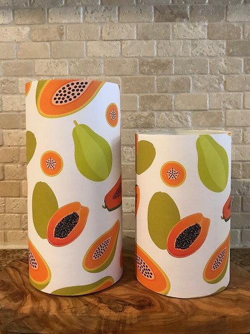 Sweet Papaya, Set, Flameless Candle, 4x8, Keleka Designs