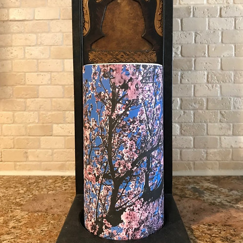 Cherry Blossoms, Tall,  Flameless Candle, 4x8, Keleka Designs