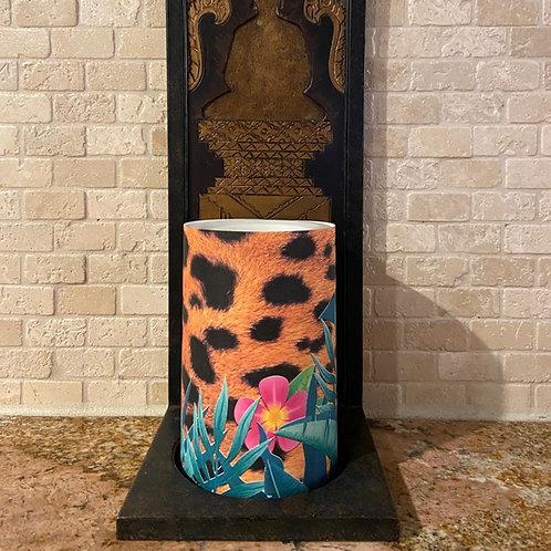 Wild Cheetah,  Flameless Candle, 4x6, Keleka Designs