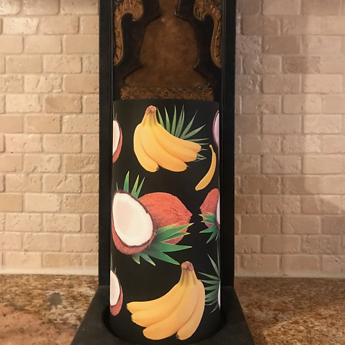 Coconuts and Bananas, Tall, Flameless Candle, 4x8, Keleka Designs