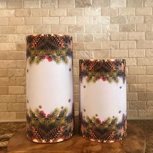 White Pine, Set, Flameless Candle ,4x6, 4x8, Keleka Design